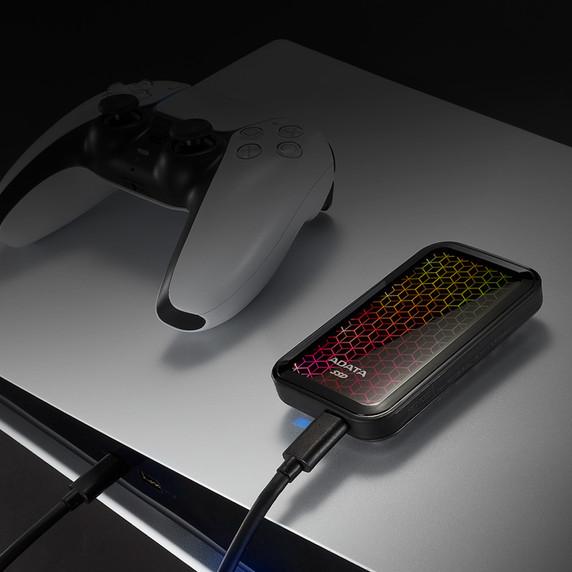 ADATA SE770G 512GB USB-C 3.2 Gen2 External RGB SSD