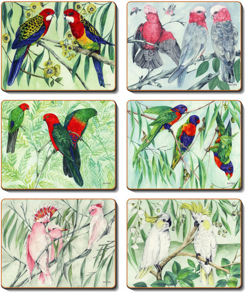 Australian Parrots Coasters
