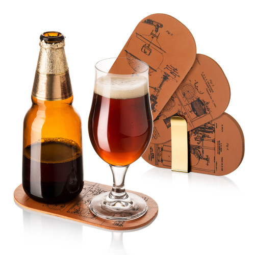Bottle & Glass Double Coasters (Set of 6)