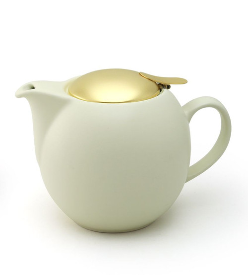 Gelato Vanilla Universal Teapot 450ml with Gold Lid