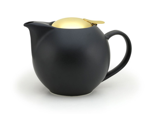 Nobu Black Universal Teapot 1000ml with Gold Lid