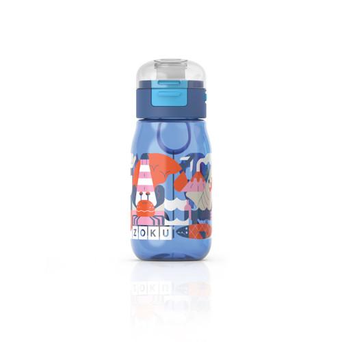 Kids Flip Gulp Bottle Blue Graphic 475ml