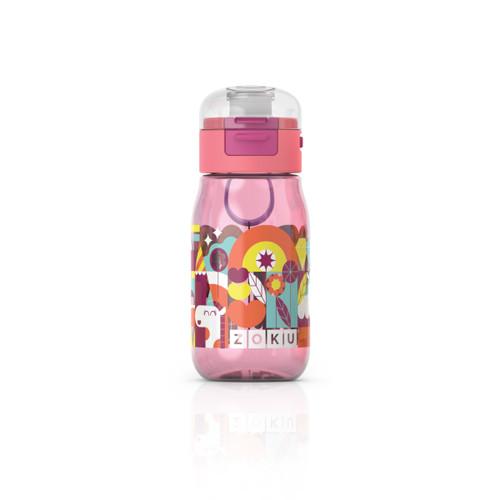 Kids Flip Gulp Bottle Pink Graphic 475ml