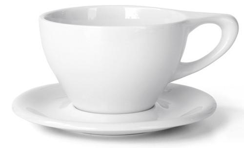 Lino Latte Large 12 oz Cup & Saucer