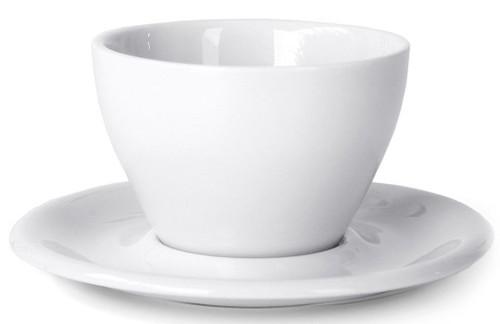 Meno Latte Small 8 oz Cup & Saucer