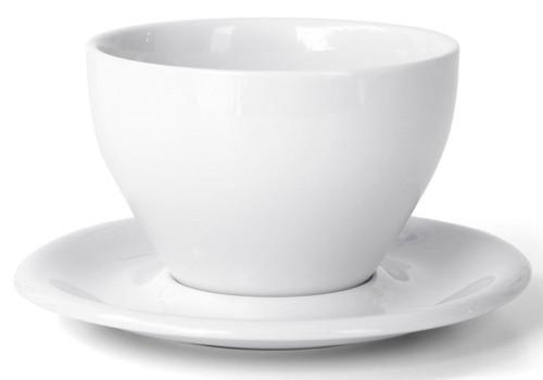 Meno Latte Large 12 oz Cup & Saucer