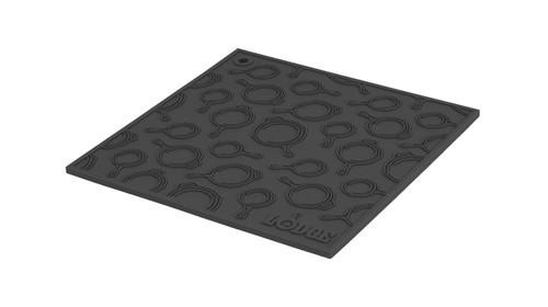 Black Square Silicone Skillet Pattern Trivet