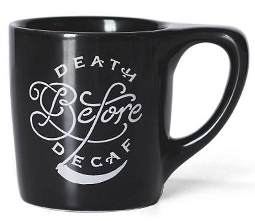 """Lino """"Death Before Decaf"""" Coffee 10oz Mug"""