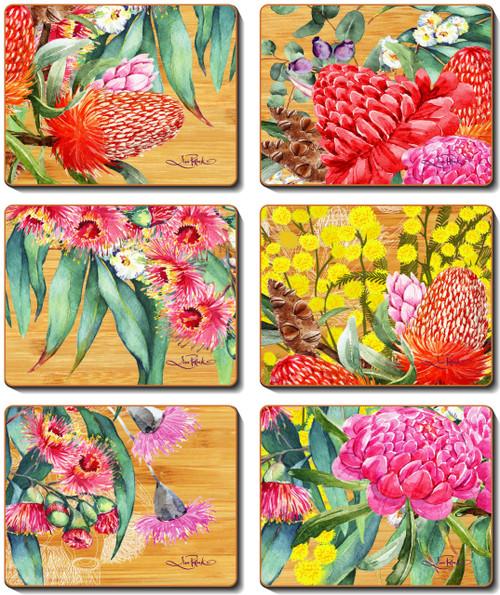 Native Flowers Coasters