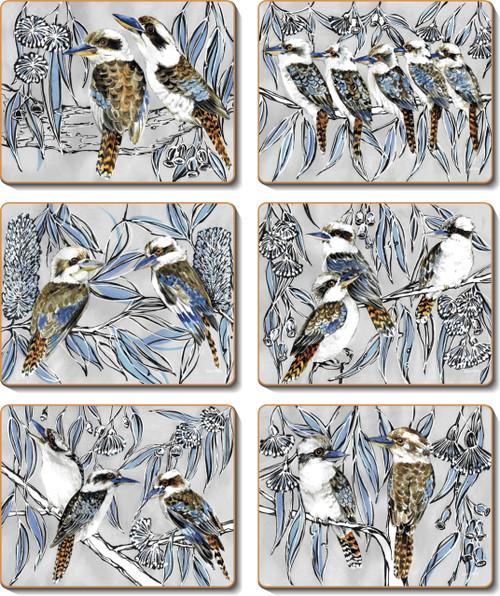 Kookaburra Laugh Coasters