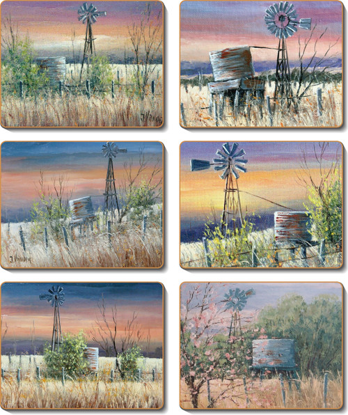 Windmills & Water Tanks Coasters