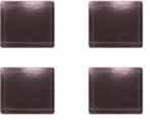 Chocolate Leather Look Coasters ( Set of 4)