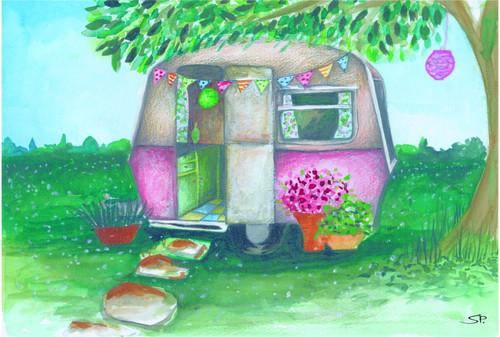 Vintage Caravan PP Mat
