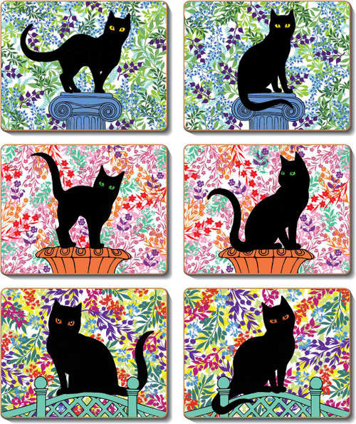 Black Cats Coasters