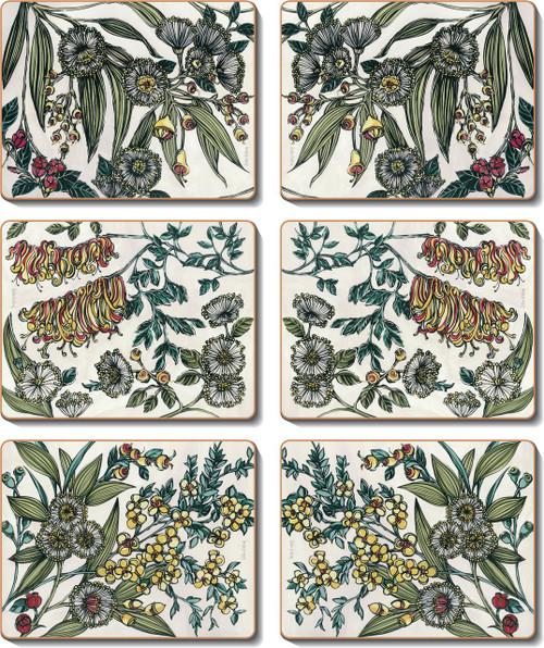 Retro Native Floral Placemats