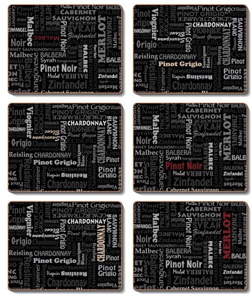 Wine Typography Coasters