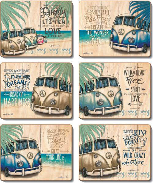 Vintage Kombi Coasters