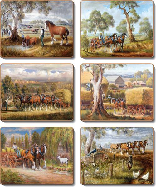 Working Horses Coasters