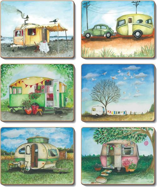 Vintage Caravan Coasters
