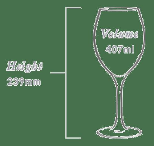 Plumm Handmade Vintage Crystal WHITEa Wine Glass (Twin Pack)