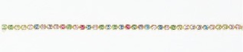 FC14/106B-A-ER:CHAIN 14PP-106B/ALT  CRYSTAL/ERINITE (2.10mm) chain: purchase by the foot.