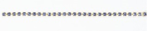 FC18/84B-A-SM:CHAIN 18PP-84B/ALT  CRYSTAL/SMOKE TOPAZ (2.50mm) chain: purchase by the foot.