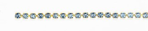 FC17/54A-A-LS:CHAIN 17SS-54/ALT   CRYSTAL/LT SAPPHIRE (4.10mm) chain: purchase by the foot.