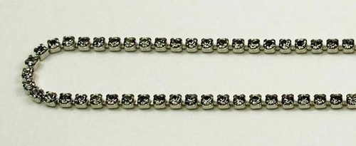 12PP (1.9mm) Black Diamond rhinestone cup chain, 120 stones per foot