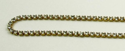 12PP (1.9mm) Crystal rhinestone cup chain, 120 stones per foot
