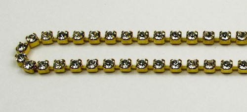 18PP (2.5mm) Crystal rhinestone chain, 84 stones per foot