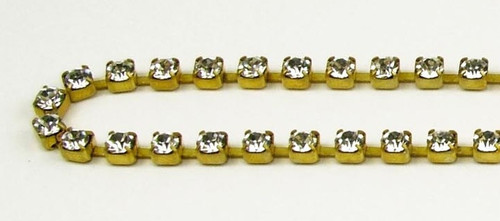 24PP (3.2mm) Crystal rhinestone chain, 62 stones per foot
