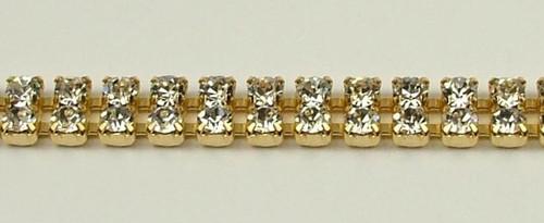 32PP (4.1mm) Crystal rhinestone chain, 54 stones per foot