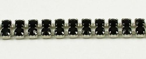 32PP (4.1mm) Jet rhinestone chain, 54 stones per foot