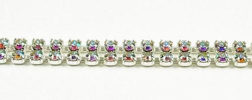 24PP (3.2mm) Crystal rhinestone chain, 68 stones per foot