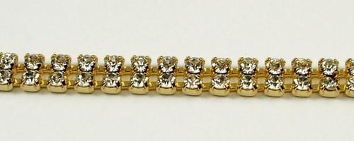 24PP (3.2mm) Crystal AB rhinestone chain, 68 stones per foot