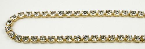 29SS (6.32mm) Crystal rhinestone chain, 37 stones per foot