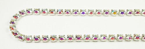 29SS (6.32mm) Crystal AB rhinestone chain, 37 stones per foot