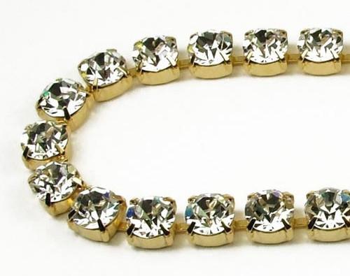 40SS (8.67mm) Crystal rhinestone chain, 30 stones per foot