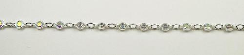 32PP (4.1mm) Crystal AB chanel rhinestone chain, 31 stones per foot
