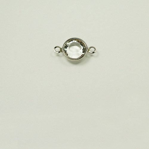 CR39/2R-CR; 2 ring, chanel setting with 39ss (8.41mm) Crystal chanel rhinestone - 12 pieces per package