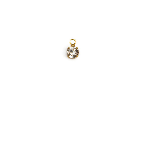 RD17/R-CR; Round single stone setting, 32pp, 1 ring, approx. 5.0mm,Crystal - 25 pieces per package