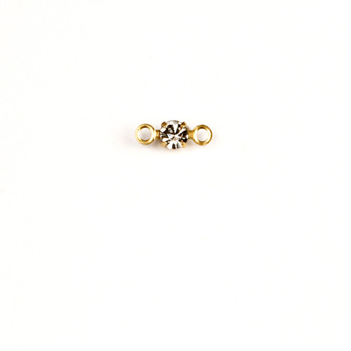 RD24/2R-CR; Round single stone setting, 24pp, 2 rings, approx. 3.0mm, Crystal - 25 pieces per package