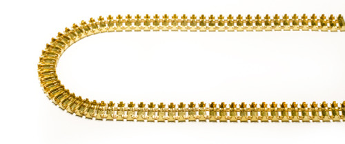 FC73/71-2: 7mm x 3mm unset double connector, baguette cup chain, 71 boxes per foot
