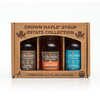 Crown Maple® Premium Trio Collection in Petite 50ML (1.7 FL OZ) Window Box Featuring Amber Color Rich Taste, Bourbon Barrel Aged & Madagascar Vanilla Infused