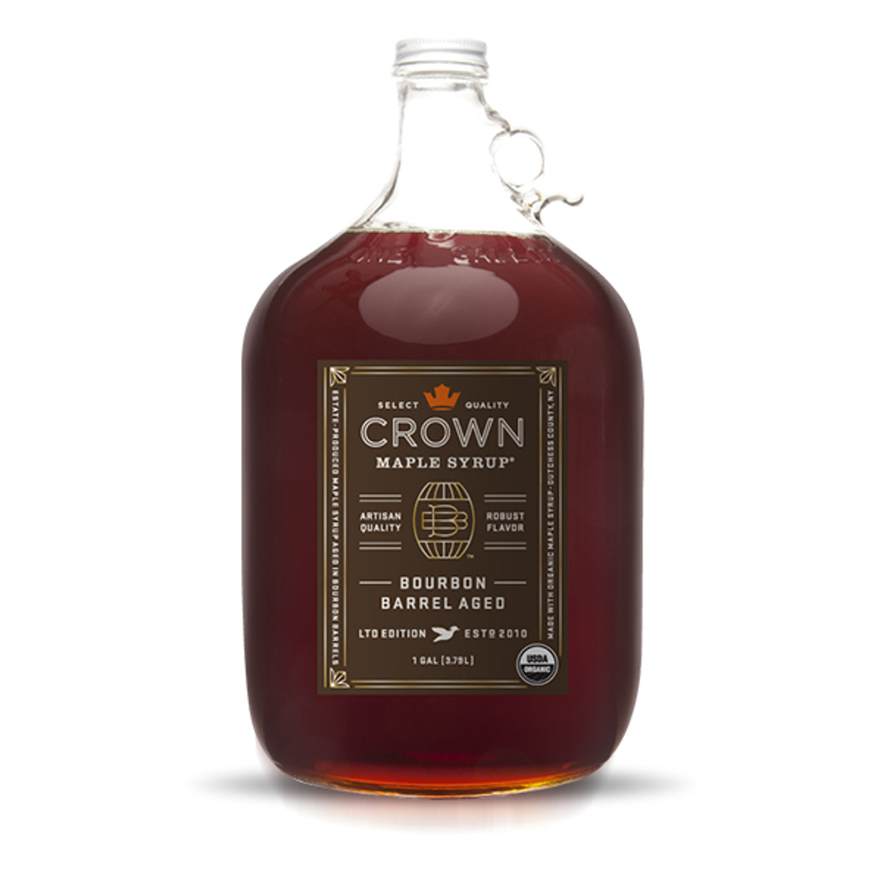 548fb453578 Crown Maple® Bourbon Barrel Aged Maple Syrup Gallon (3.79 L) - Glass ...