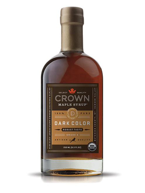 Crown Maple® Dark Color Robust Taste Organic Maple Syrup 250ML (8.5 FL OZ)