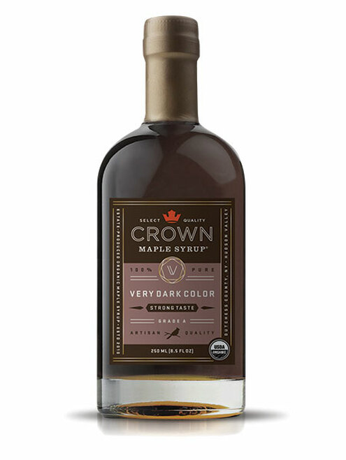 Crown Maple® Very Dark Color Strong Taste Organic Maple Syrup 250ML (8.5 FL OZ) **Summer Deals & Back to School Promo Save $2**