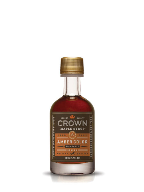 Crown Maple® Amber Color Rich Taste Organic Maple Syrup Single Petite 50ML (1.7 FL OZ)