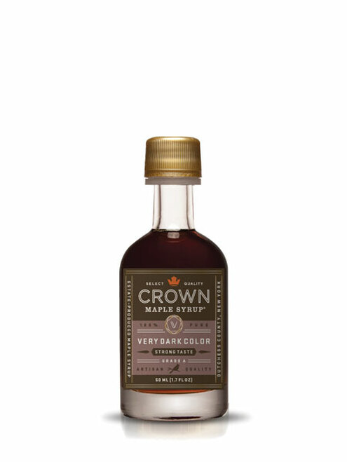 Crown Maple® Very Dark Color Strong Taste Organic Maple Syrup Single Petite 50ML (1.7 FL OZ)