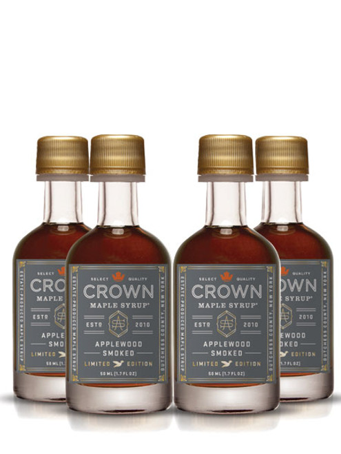 Crown Maple® Applewood Smoked Organic Maple Syrup 12-Pack Petite 50ML (1.7 FL OZ) SAVE 10%